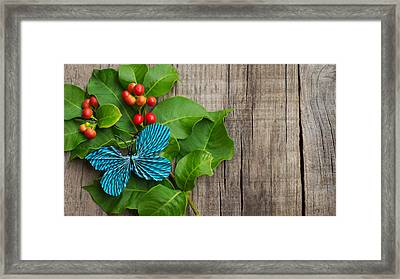 Paper Butterfly Framed Print by Aged Pixel