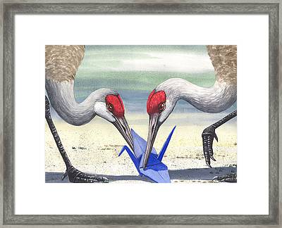Paper Crane Framed Print by Catherine G McElroy