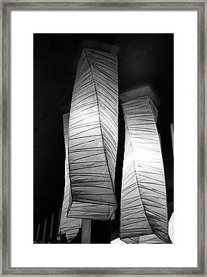 Paper Lampshades Framed Print by Bob Wall