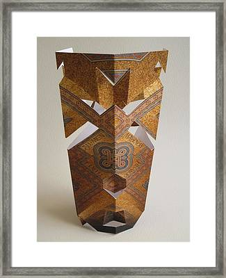 Paper Mask Framed Print by Alfred Ng