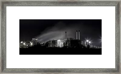 Paper Mill In Black And White Framed Print
