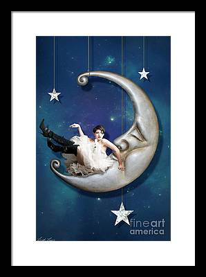 Paper Moon Framed Prints