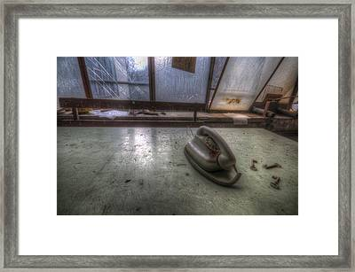 Paper Phone Framed Print
