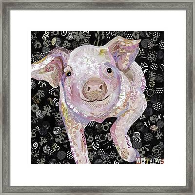 Paper Pig Framed Print by Beth Watkins