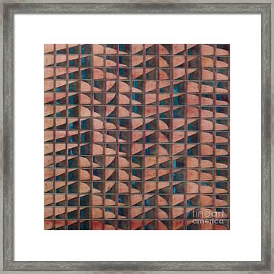 Paper Relief Framed Print by Jan Willem Van Swigchem