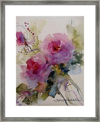 Paper Roses Framed Print