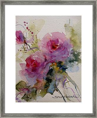 Paper Roses Framed Print by Sandra Strohschein