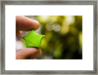 Paper Star Framed Print by Mark Pangilinan