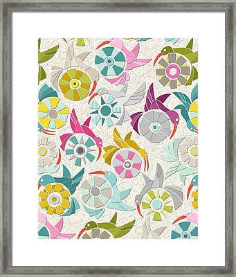 Paper Sunbirds Pearl Framed Print
