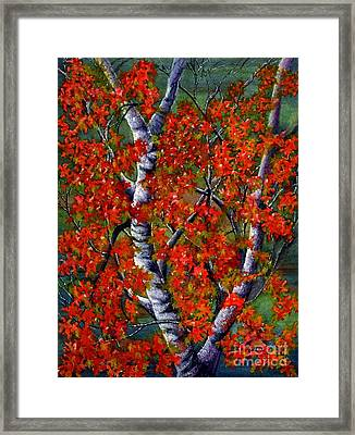 Paper White Birch Reflections Framed Print