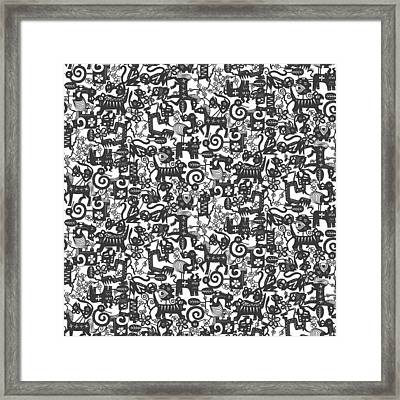 Paper Zodiac Graphite Framed Print by Sharon Turner