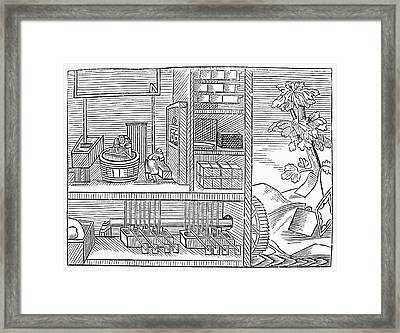 Papermakers, 1659 Framed Print
