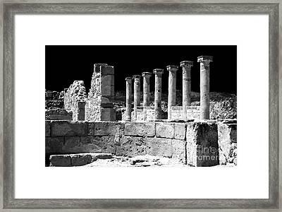 Paphos Columns Framed Print by John Rizzuto