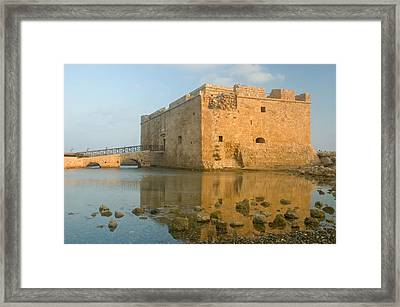 Paphos Harbour Castle Framed Print by Jeremy Voisey