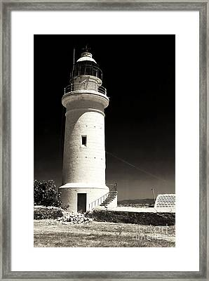 Paphos Lighthouse Framed Print by John Rizzuto