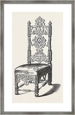 Papier Mache Chair Framed Print by Jennens And Bettridge, English, 19th Century