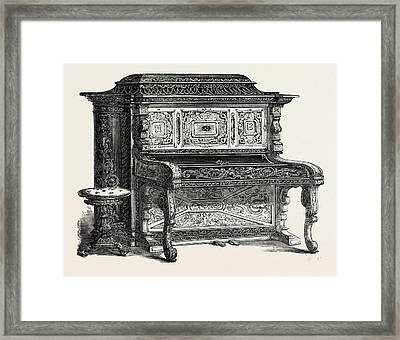 Papier Mache Pianoforte Framed Print by A. Dimoline, Bristol, English, 19th Century