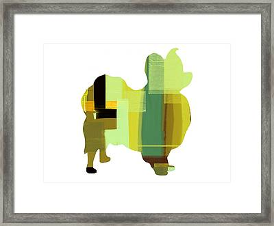 Papillion Framed Print by Naxart Studio