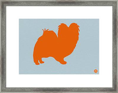 Papillion Orange Framed Print by Naxart Studio
