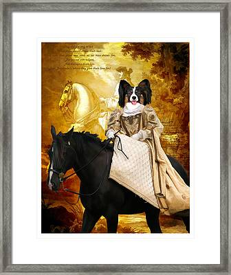 Papillon - Continental Toy Spaniel Art Canvas Print Framed Print by Sandra Sij