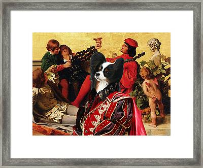 Papillon Dog - Continental Toy Spaniel Art Canvas Print Framed Print by Sandra Sij