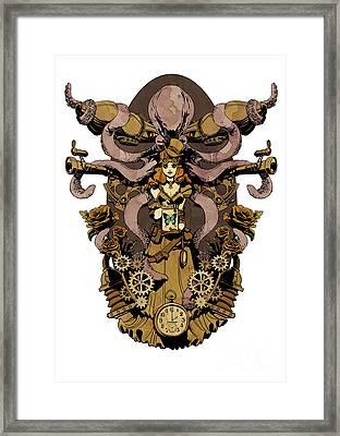 Papillon Mecaniques Framed Print
