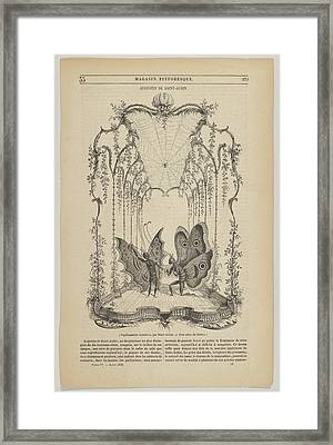 Papillonneries Humains, Illustration Framed Print