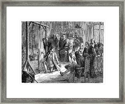 Papin's Steam Engine Demonstration Framed Print