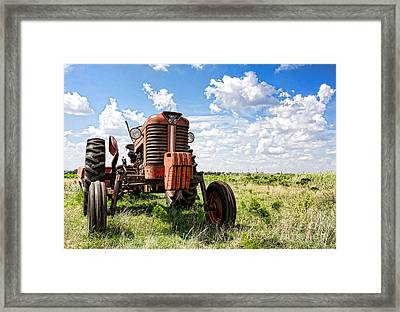 Pappa's Tractor Framed Print