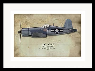Aircraft Profiles Framed Prints