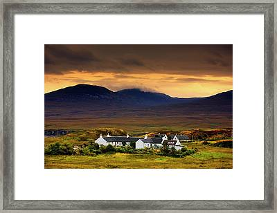 Paps Of Jura, Jura, Scotland  Houses Framed Print