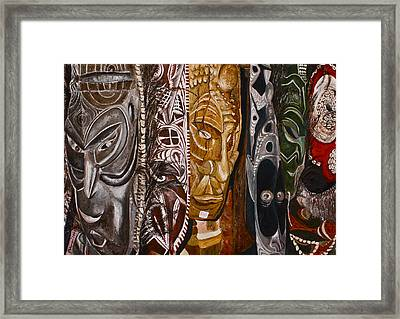 Papua New Guinea Masks Framed Print