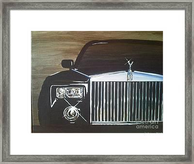 Par De Elegance Rolls Royce Phantom Framed Print by Richard John Holden RA