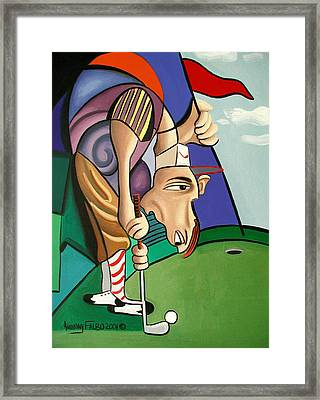 Par For The Course Framed Print by Anthony Falbo