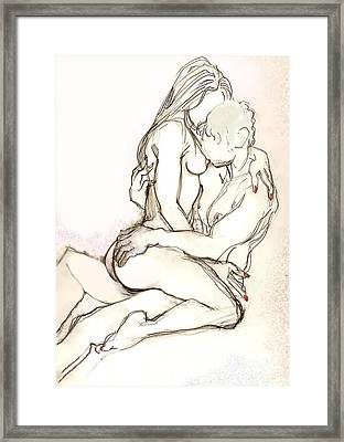 Framed Print featuring the painting Para Que No Estuvieras Triste by Carolyn Weltman