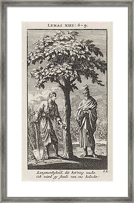Parable Of The Barren Fig Tree, Jan Luyken Framed Print
