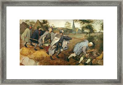 Parable Of The Blind, 1568 Tempera On Canvas Framed Print