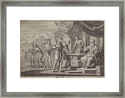 Parable Of The Laborers In The Vineyard, Jan Luyken Framed Print