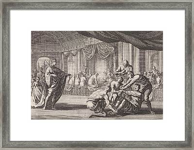 Parable Of The Royal Wedding, Print Maker Jan Luyken Framed Print by Jan Luyken And Pieter Mortier