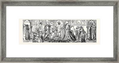 Parable Of The Ten Virgins Framed Print by Leighton, Frederic (1830-96), English