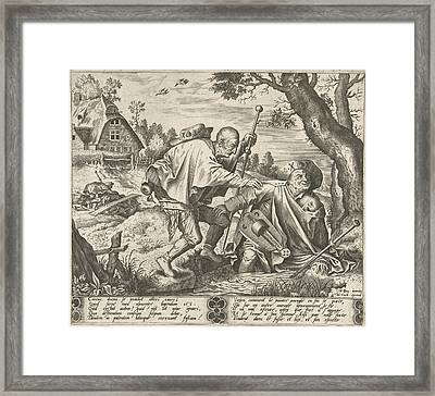 Parable Of The Two Blind, Pieter Van Der Heyden Framed Print