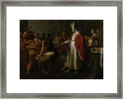 Parable Of The Unworthy Wedding Guest Framed Print