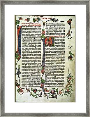 Parabole Or Proverbs. In The Gutenberg Bi Framed Print by British Library