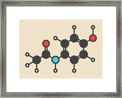 Paracetamol Molecule Framed Print