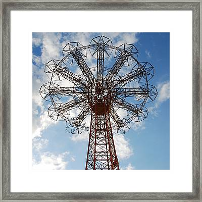 Parachute Jump 2 Framed Print by Jim Poulos