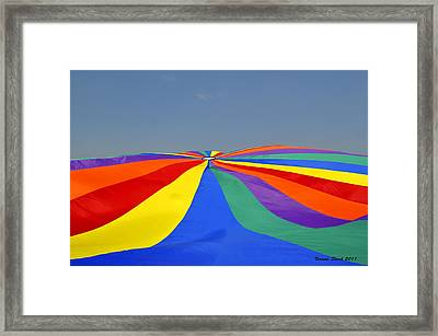 Parachute Of Many Colors Framed Print