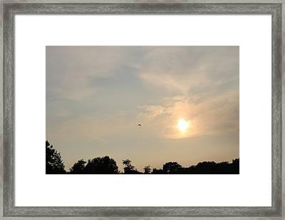 Parachute Framed Print by Samantha Mattiello