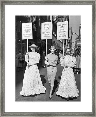 Parade For Court Reform Framed Print by Underwood Archives