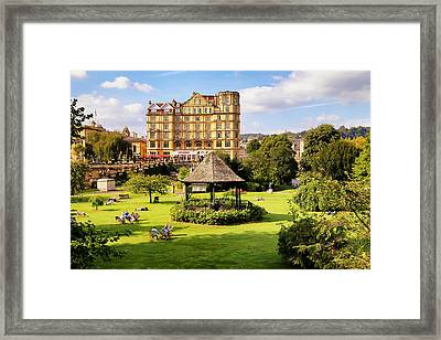 Framed Print featuring the photograph Parade Gardens Bath by Michael Hope