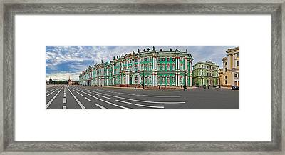 Parade Ground In Front Of A Museum Framed Print